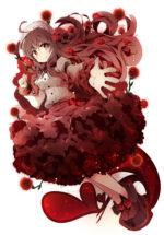 カーネーションの花をイメージしたキャラクター 透過素材