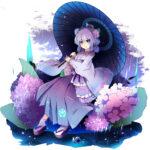 紫陽花(アジサイ)の花をイメージしたキャラクター 透過素材