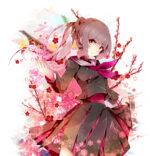 梅の花をイメージしたキャラクター 透過素材