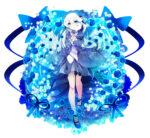青い薔薇をイメージしたキャラクター 透過素材