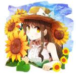 向日葵(ひまわり)の花をイメージしたイラスト