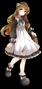 ロリィタ衣装の少女 透過素材