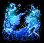 【背景】青い宝石の背景