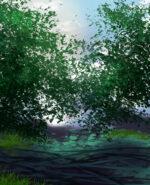 【背景】茂みの影