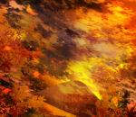 【背景】紅葉と夕焼け