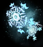 【背景】雪の結晶