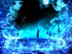 【背景】青い炎の背景