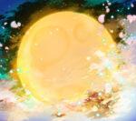 【背景】和風な満月の背景