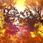 【背景】秋の林