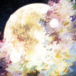 【背景】朧げな月