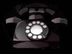 【アイテム・オブジェクト】黒電話 でんわ