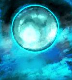 【背景】碧い月の背景