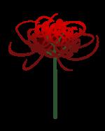 【アイテム・オブジェクト】彼岸花 ヒガンバナ 透過素材 4パターン