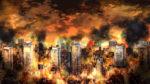【背景】炎の都市の背景 4カラー