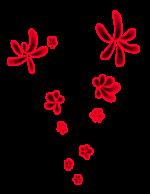 【オブジェクト・エフェクト】花柄エフェクト 透過素材
