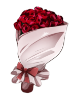 【アイテム・オブジェクト】薔薇の花束 バラ 透過素材 色変更差分