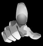 【オブジェクト】こちらに指差しポーズ 透過素材 4パターン
