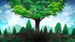 【背景】大木の背景 緑