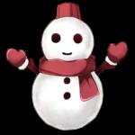 【アイテム・オブジェクト】雪だるま 透過素材 複数パターン