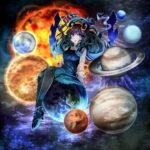 宇宙と惑星をイメージしたキャラクター 透過素材 表情差分
