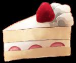 【アイテム・オブジェクト】ショートケーキ 透過素材