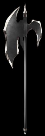 【アイテム・オブジェクト】ハルバード 斧 槍 透過素材 4カラー