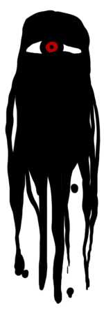 TRPG向け雑魚敵 一つ目モンスターシルエット 透過素材 12パターン