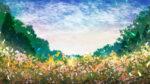 【背景】花畑の背景