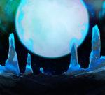 【背景】青い月の背景 2パターン