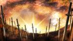 【背景】刀が刺さった大地の背景 2パターン