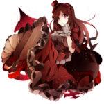 赤い服の少女 透過素材