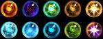 【アイテム・オブジェクト】エレメントオーブ 宝玉 透過素材 10パターン