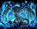 青い炎を纏う龍 透過素材