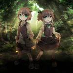 童話「ヘンゼルとグレーテル」をイメージしたキャラクター 透過素材 表情差分