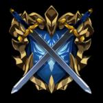 【アイテム・オブジェクト】剣と盾のロゴ 透過素材