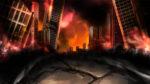 崩壊した都市の背景