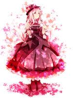 桜の花をイメージしたキャラクター