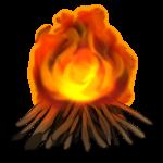 【アイテム・オブジェクト】焚火 篝火 透過素材 3パターン