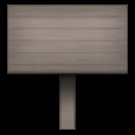 【アイテム・オブジェクト】看板 立札 透過素材 4パターン