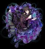 紫の薔薇と少女 透過素材