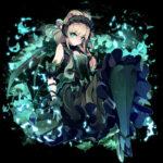 緑の瞳の悪魔  透過素材
