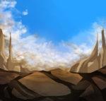 【背景】空と大地の背景