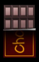 【アイテム・オブジェクト】チョコレート 板チョコ 透過素材 2パターン