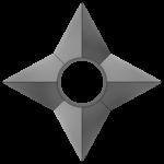 【アイテム・オブジェクト】手裏剣 透過素材 2パターン