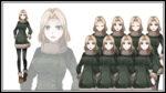 冬服っぽい女性 透過素材 表情差分