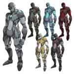 アンドロイド ロボット 透過素材 6カラー