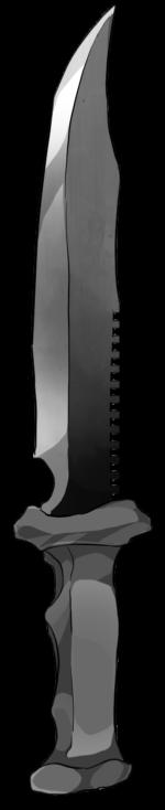 【アイテム・オブジェクト】サバイバルナイフ 透過素材