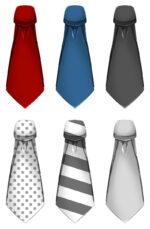 【アイテム・オブジェクト】ネクタイ 透過素材 6カラー