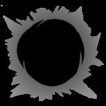 【オブジェクト・エフェクト】弾痕エフェクト 透過素材 4パターン