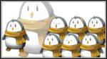 ペンギンっぽいキャラクター 透過素材 表情差分